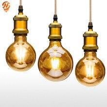 Led Filament Bulb G125 E27 Indoor-Lighting-Lamp G95 AC220V 6W 4W G80 Clear-Glass 8W Big