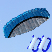 2,5 м двойное парашютирующее крыло воздушный змей цвет дети летающие игрушечные парашюты сумка для занятий спортом на открытом воздухе пляж змеи Складная оплетка воздушный змей
