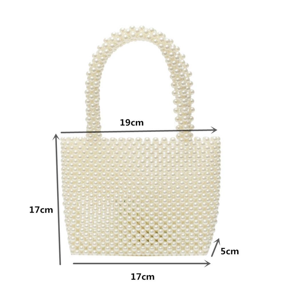 New Small bag ladies beaded shoulder bag ladies party retro handbag Ins small flip bag Small pearl bag banquet wedding handbag in Top Handle Bags from Luggage Bags