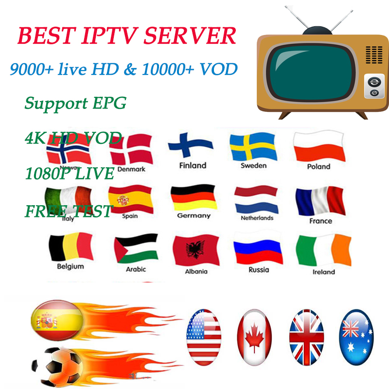 Stable Spain DAZN TV Box IPTV Subscription For Adults Throughout Europe Spain Portugal Brazil Italy 9000 Live 10000 Vod M3u Iptv