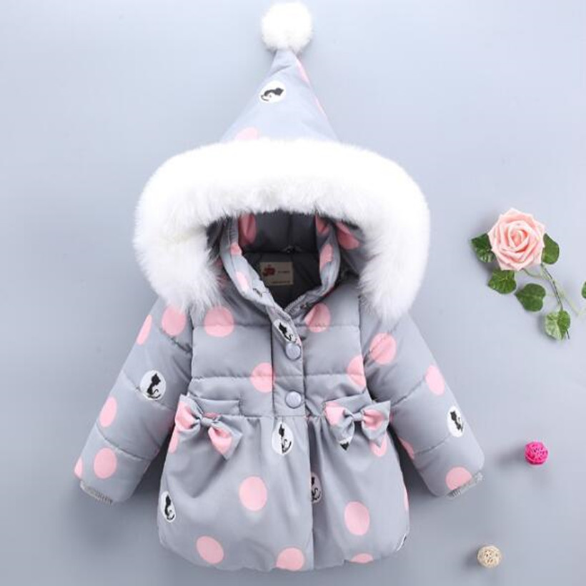 Baby Coat Winter Hooded Thick Warm Toddler Baby Girls Outerwear Faux Fur Baby Girls Jacket And Coat Infant Baby Girls Clothes