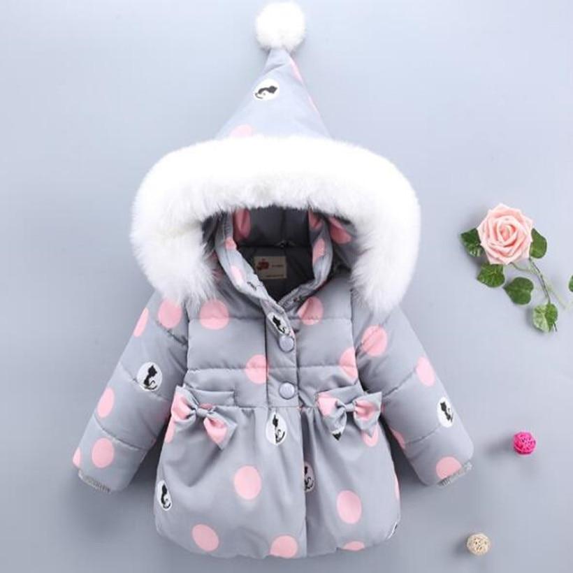 Детское пальто с капюшоном, зимняя плотная теплая верхняя одежда для маленьких девочек, куртка и пальто из искусственного меха для маленьки...