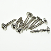 20pcs/Lot 304 stainless steel self-tapping screws M1.4 M1.7 M2 M3 M4 Cross round head PWA pan head with pad screw