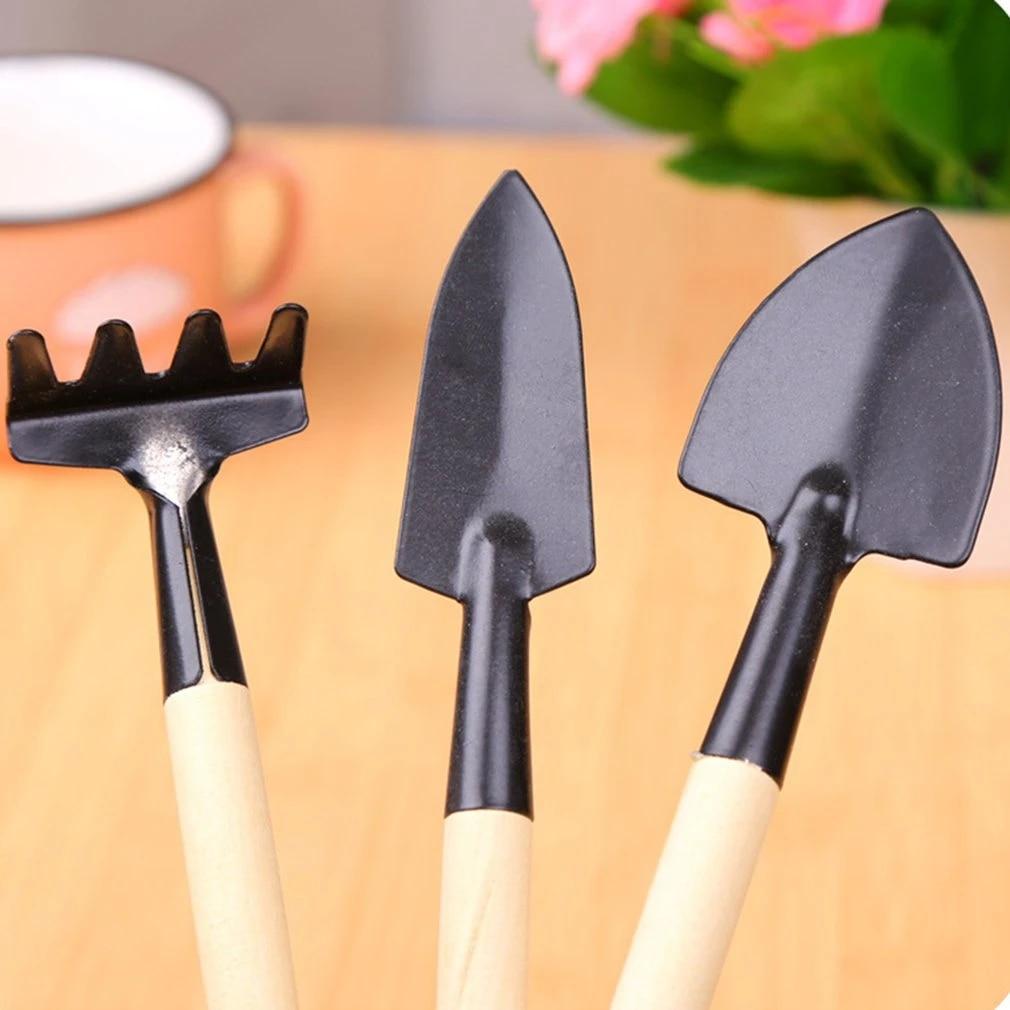 Shovel Rake Gardening Tools Steel Potted Plants Wood Spade For Flowers