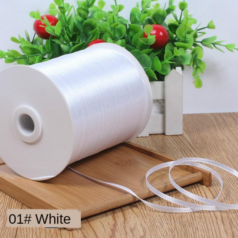 10 м/лот 3 мм белые шелковые атласные ленты Рождество детский праздник детский день рождения вечерние ная подарочная коробка