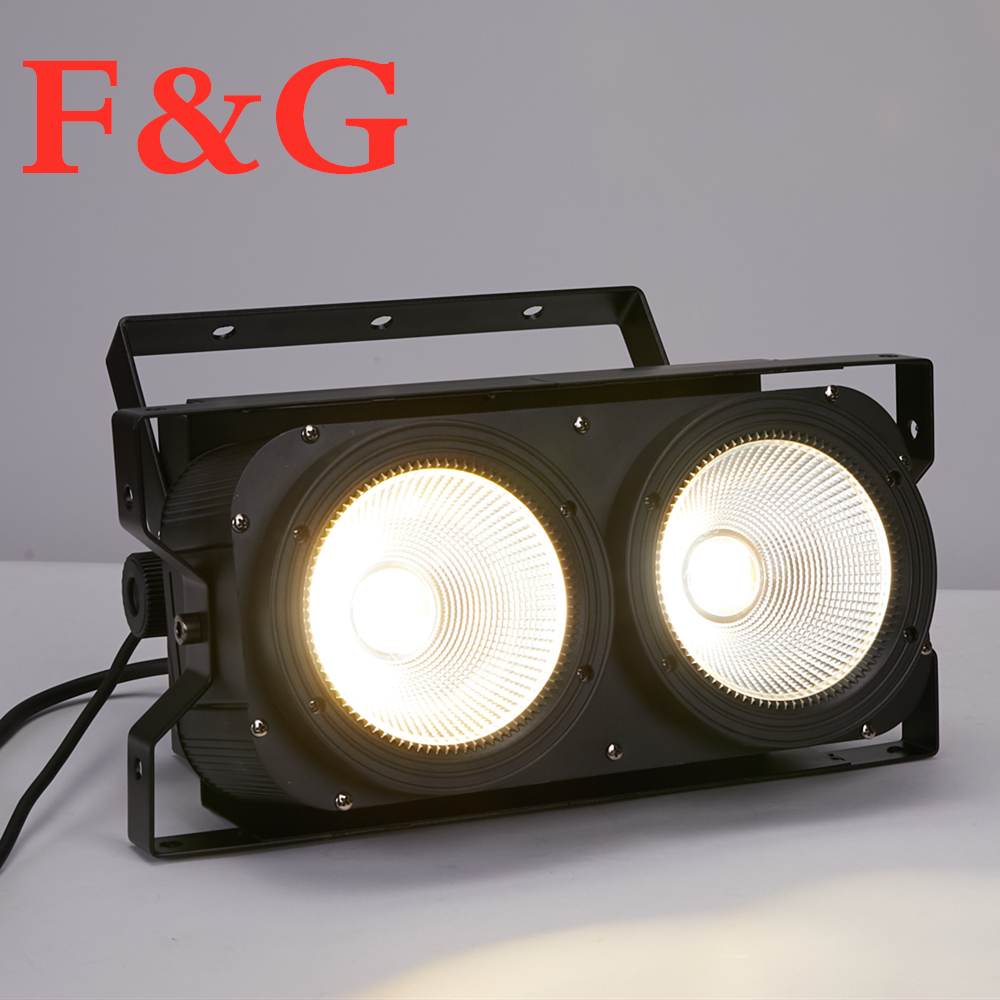 F&G200W High Power Audience Light Two Eyes COB 2x100w Surface Light For Stage DJ Bar Effect Club Lighting