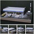 Модель супермаркета ручной работы в масштабе 1:87 в стиле Хо, стол для поезда и магазина, Модель 22*16 см