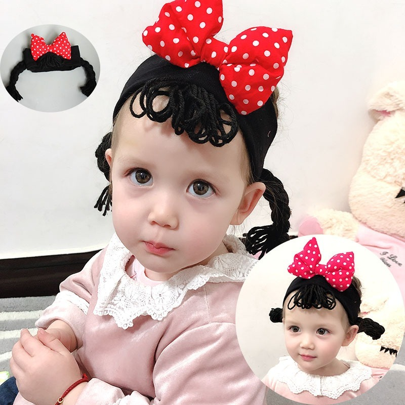 Kids Bow Headband Baby Elastic Cotton Wig Bandage Hairbands Child Kids Cute Headwear Handmade Gifts Baby Girl Accessories