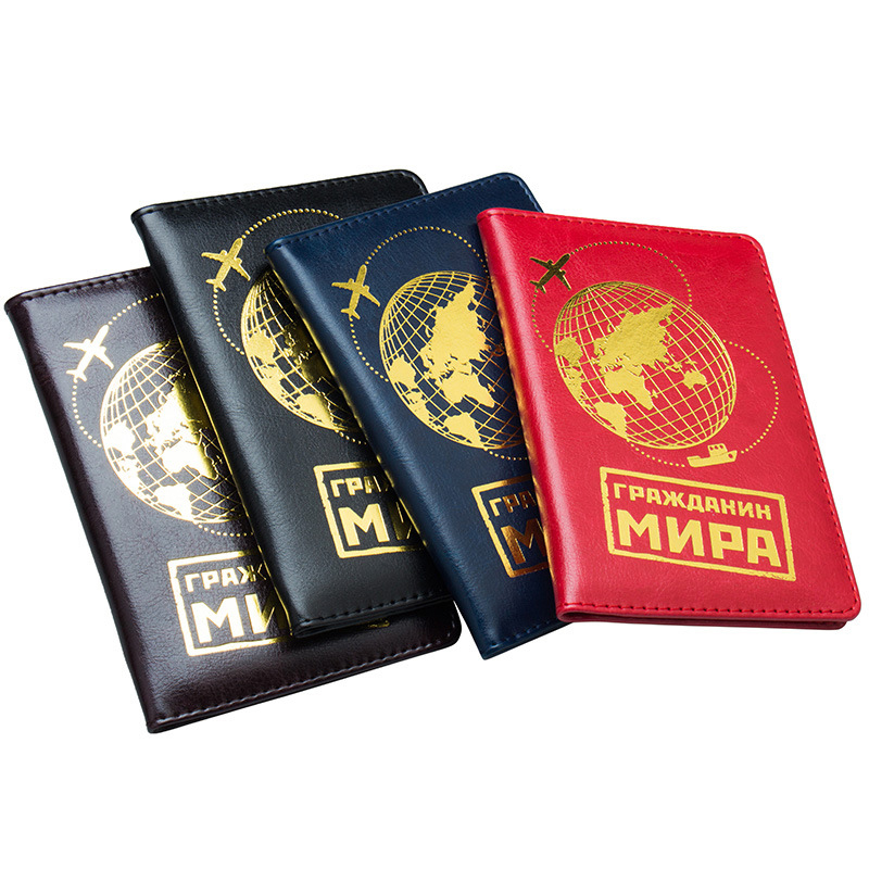 Earth Russia Passport Clipping Ticket Card Holder Passport Bag Cover Case Fashion Passport Bag Case Credit Card Travel Wallet