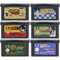 32 ビットビデオゲームカートリッジコンソールカード任天堂 GBA Sonicc 事前英語版