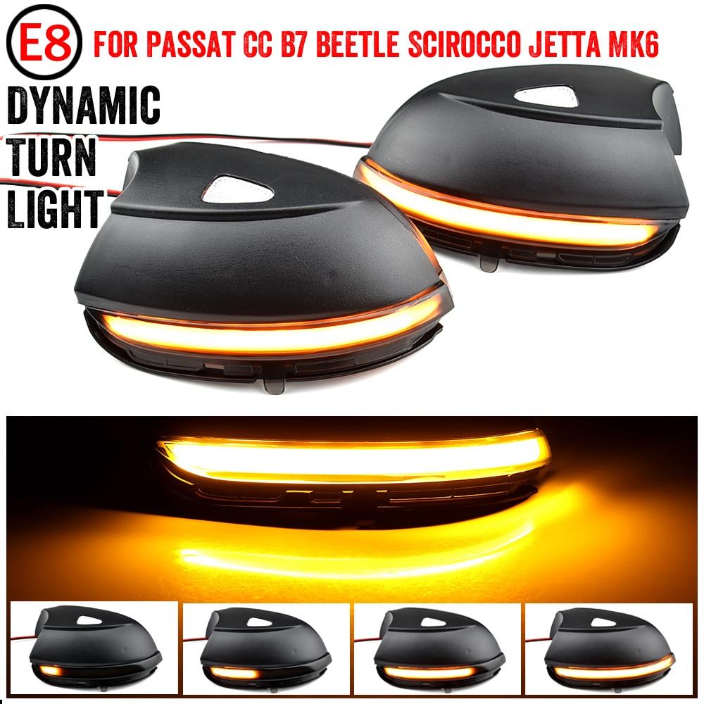 Светодиодный динамичессветильник поворотник с боковым крылом, зеркальный индикатор для VW Passat CC B7 Beetle Scirocco Jetta MK6 Euro PR