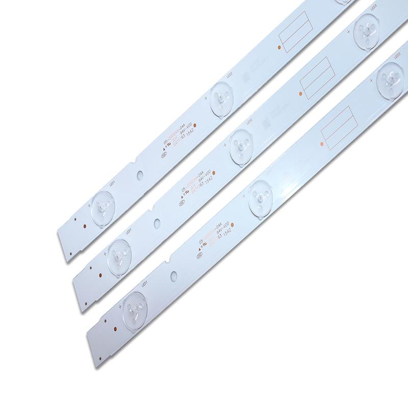 New 30 PCS/set LED Backlight Strip 5800-W32001-3P00 05-20024A-04A For LC320DXJ-SFA2 32HX4003 7LED 607mm