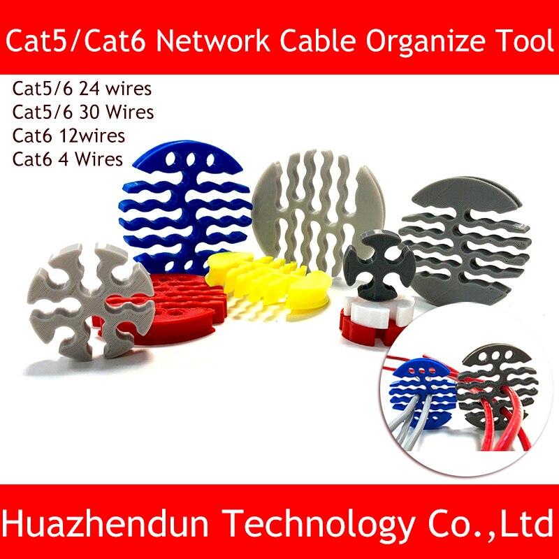 Nova category5/categoria 6 rede cabo pente máquina chicote de fios arranjo arrumado ferramentas para sala de computadores 4/12/24/30 fios