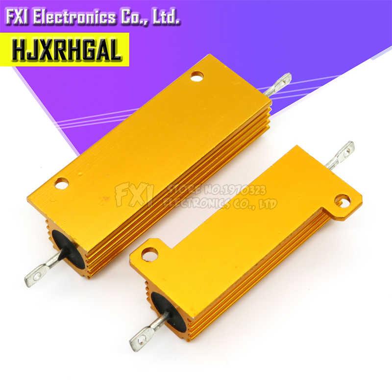 50W 100W אלומיניום חשמל מתכת Shell Case חוט מלופף הנגד 0.01 ~ 100K 0.05 0.1 0.5 1 2 6 8 10 20 200 500 1K 10K אוהם התנגדות