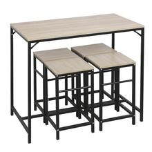 Bar Table And Stool Set Home Furniture Dining Room Simple Modern Metal Frame Dining Kitchen Table Home Furniture HWC