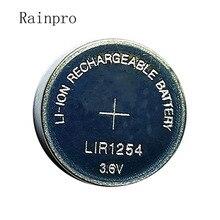 Rainpro 2 יח\חבילה LIR1254 1254 3.6V נטענת כפתור סוללה במקום 3.7V 40mAh Bluetooth אוזניות