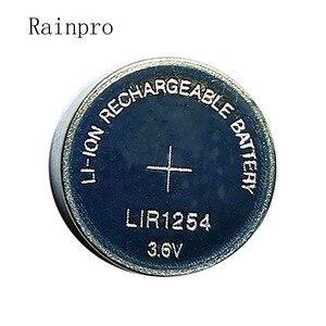 Image 1 - Rainpro 2 יח\חבילה LIR1254 1254 3.6V נטענת כפתור סוללה במקום 3.7V 40mAh Bluetooth אוזניות