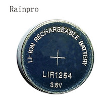 Rainpro 2 sztuk/partia LIR1254 1254 3.6V akumulator przycisk baterii zamiast 3.7V 40mAh zestaw słuchawkowy bluetooth