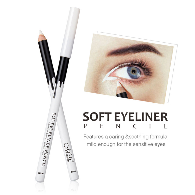 1/2/3pcs Eyeliner Pencil Makeup Women Long Lasting Waterproof Pigment Eye Liner White Eyeliner Pen Cosmetics New 3