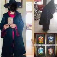 Robe Capo Potter Mantello Magico Potter Vestito Hogwarts Uniform Cosplay Corvonero Grifondoro Costumi Cosplay Per I Bambini Adulti