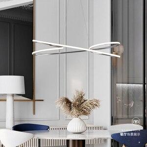 Image 3 - Neo Gleam Gold Chrome Plated Moderne Led Hanglampen Voor Eetkamer Keuken Kamer Bar Winkel Plafondlamp 90 260V Gratis Verzending