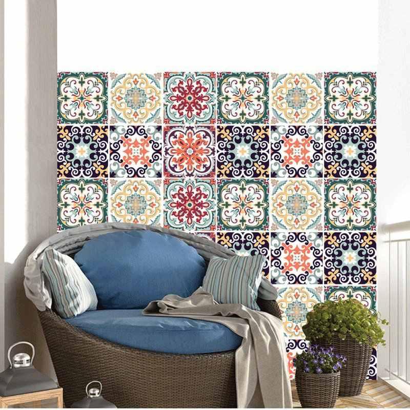 3D DIY Mosaic Ốp Tường Dán Maroc Phong Cách Cột Dây Eo Decal Dán Tường Nhà Bếp Dán Phòng Tắm Vệ Sinh Nhựa PVC Dán Tường