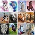 40x50 см diy рамка лошадь масло Набор для рисования по номерам Акриловая Краска по номерам на холсте Ручная роспись с животным рисунком