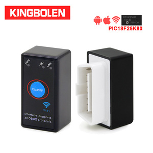 Image 1 - ELM327 WiFi PIC18F25K80 Chip V1.5 Power On/Off Switch Button 4MHz OBDII Diagnostic Tool IOS/Android ELM 327 Icar2 OBD2 Scanner