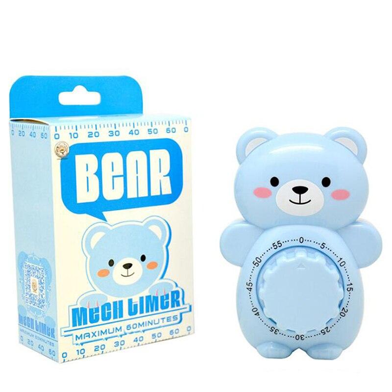 Practical Kitchen Cooking Mechanical Timer Cartoon Bear Cooking Timer Reminder Magnetic Stopwatch Loud Alarm Electronic Gadgets