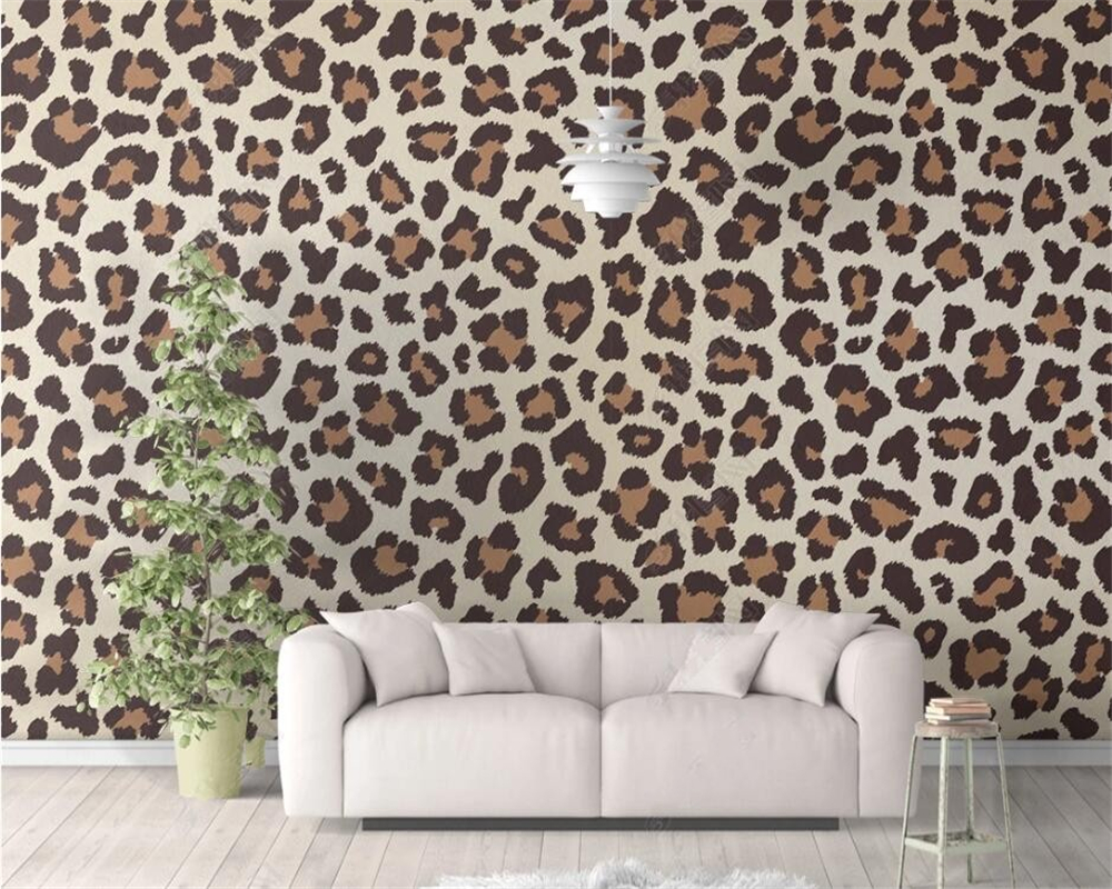 Beibehang Modern Fashion Wallpaper Mural Large Leopard Vector Illustration Personality Background Decorative Wallpaper