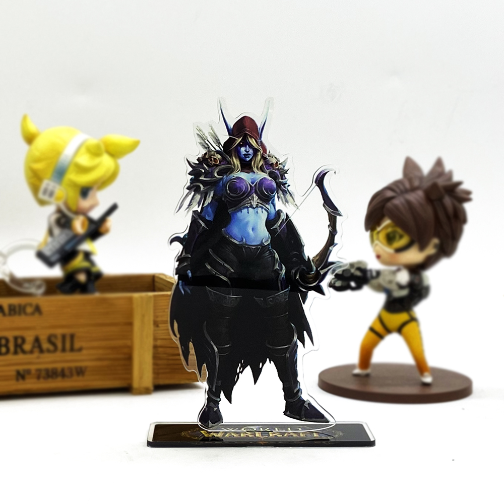 Love Thank You WOW HOS Sylvanas Windrunner Acrylic Stand Figure Model Plate Holder Cake Topper Anime Toy