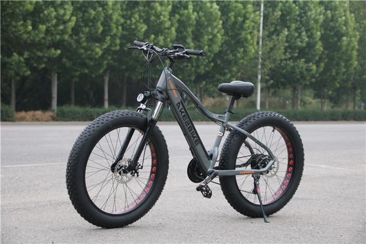 Elektrische Berg Fahrrad 48V 500W Zwei Räder Elektrische Fahrräder 26 Zoll Fett Ebike 4,0 Schnee Reifen Elektrische Strand schnee Bike Erwachsene