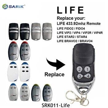 10PCS Universal remote control LIFE FIDO 2, FIDO 4, VIP2, VIP4 garage gate Remote Control Replacement 433mhz remote transmitter
