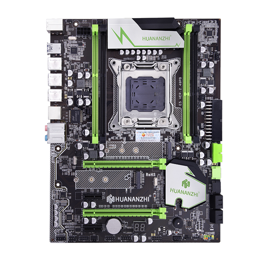 Huananzhi X79 LGA2011 ATX 4 Channel PCI-E NVME M.<font><b>2</b></font> <font><b>USB3.0</b></font> SATA3 ECC Full Speed Reg Professional Replacement Computer Motherboard image