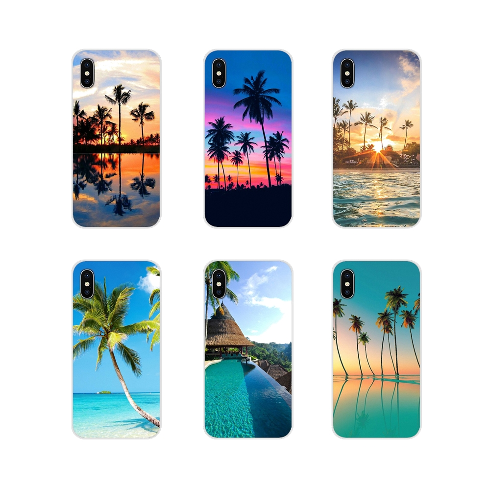 <font><b>summer</b></font> Beach Scene at Sunset on sea Palm TPU <font><b>Cases</b></font> For <font><b>Huawei</b></font> Nova 2 3 2i 3i <font><b>Y6</b></font> Y7 Y9 Prime Pro GR3 GR5 2017 <font><b>2018</b></font> 2019 Y5II Y6II image