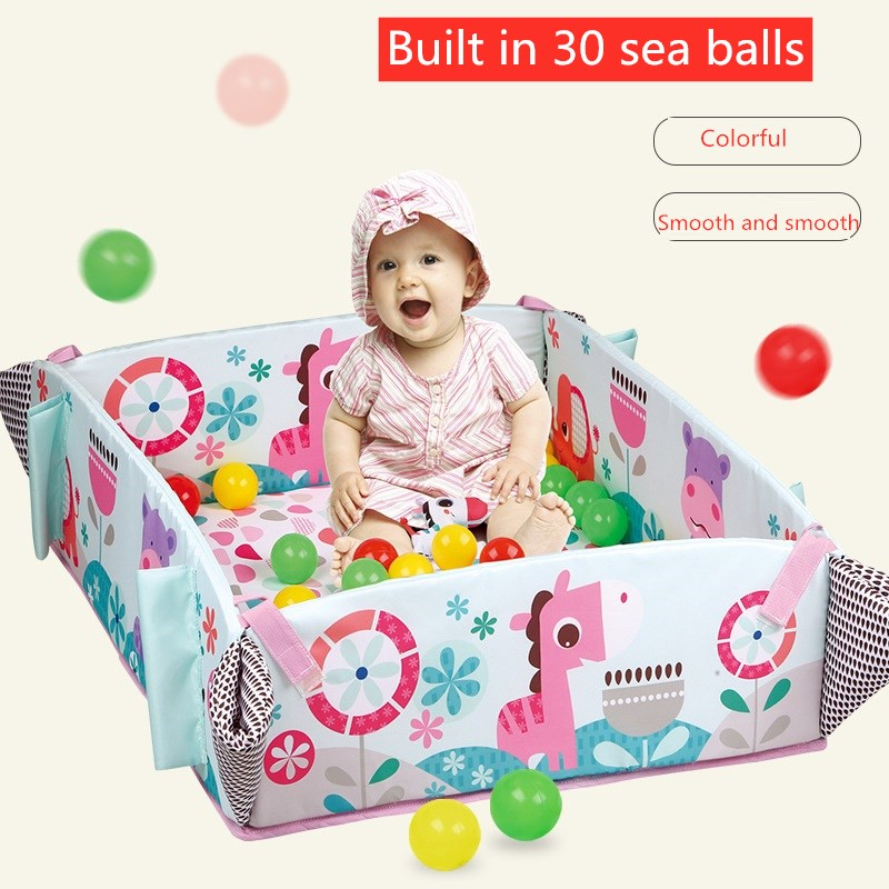 Baby Music Game Blanket Crawling Mat Baby Fitness Support With Sea Polo Baby Educational Toys 0-12 Months