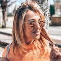 Nette Sexy Retro Oval Sonnenbrille Frauen Berühmte Marke Kleine Gold Schwarz Vintage Retro Sonnenbrille Weibliche Silber Brillen Oculos