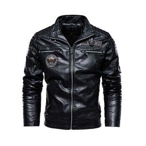 Tactical PU Leather Jacket Men Winter fleece Military Casual Leahter jacket Male Motorcycle Windbreaker chaqueta cuero hombre