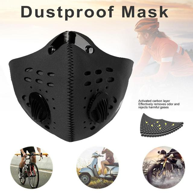 Dust Protective Mask Breathable Dustproof Double-valve Face Mouth Mask For Pollution Protection Pollen Allergy Running Cycling 2