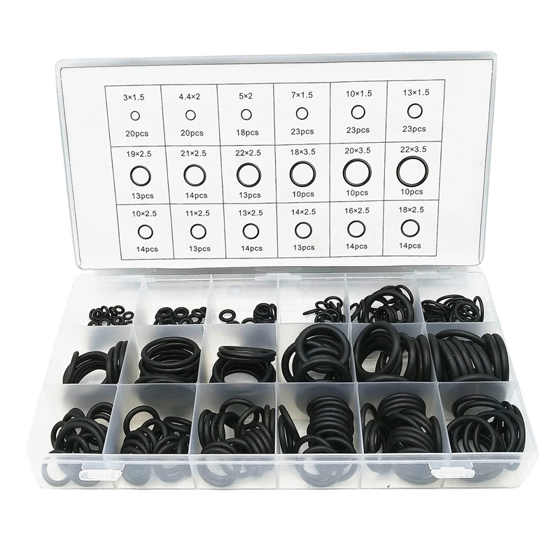 279 Pcs Rubber O-Ring Gasket Ring Assortment Kits Thickness 1.5mm 2.5mm 3.5mm