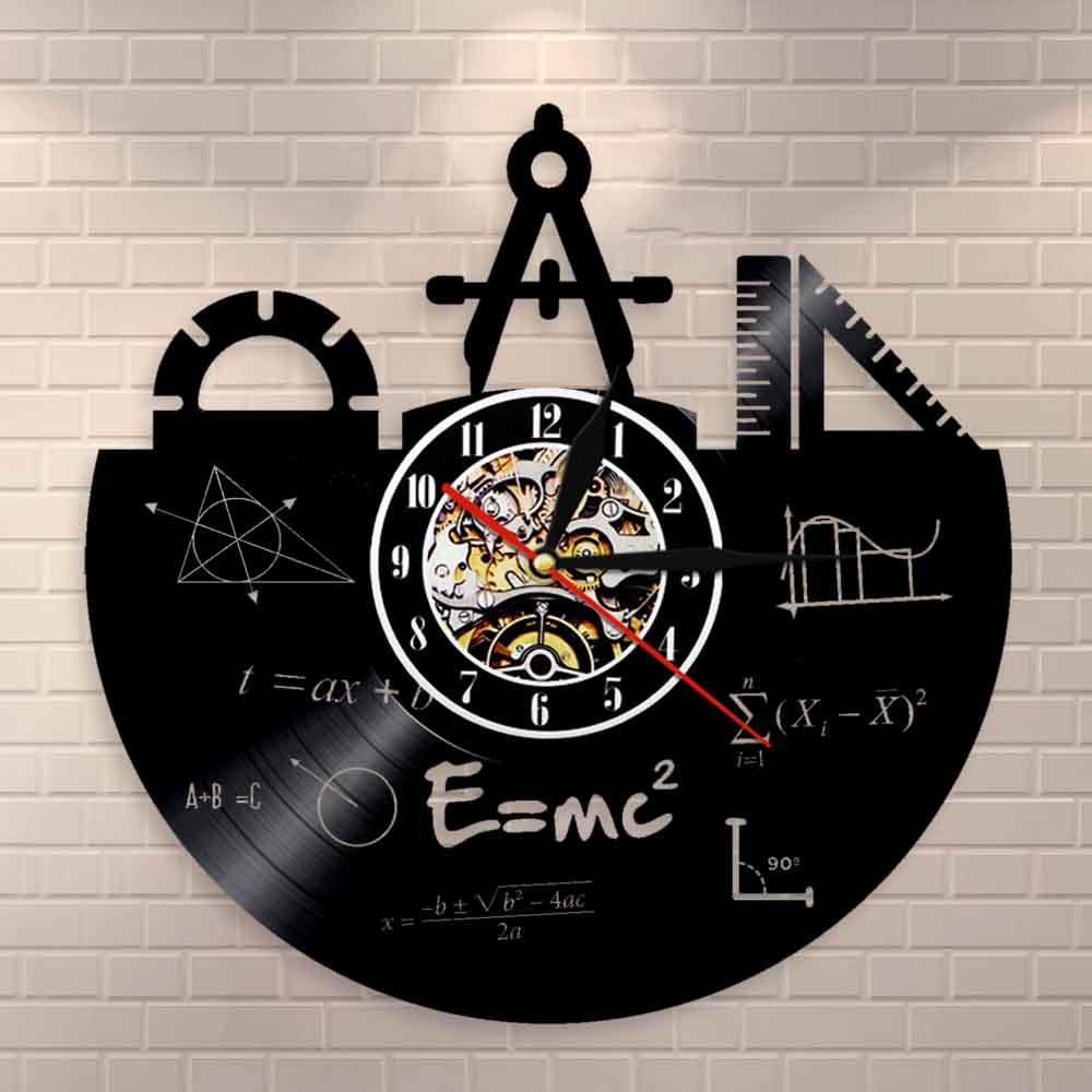 Math Formula Wall Art Wall Clock Vinyl Record Clock Pythagorean Theorem Class Room Quadratic Formula Wall Decor Teachers Gift