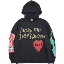 Euro Size 100 Cotton I see Ghosts Ghost Fun Hoodie Men Women Pullover 2019 Fashion Sweatshirts Hip Hip Famous Brand Mens Hoodies(China)