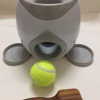 1pcs Pet Dog Toys Set Interactive Fetch Ball Tennis Launcher Dog Pet Toys Food Reward Machine with Feeding Spoon