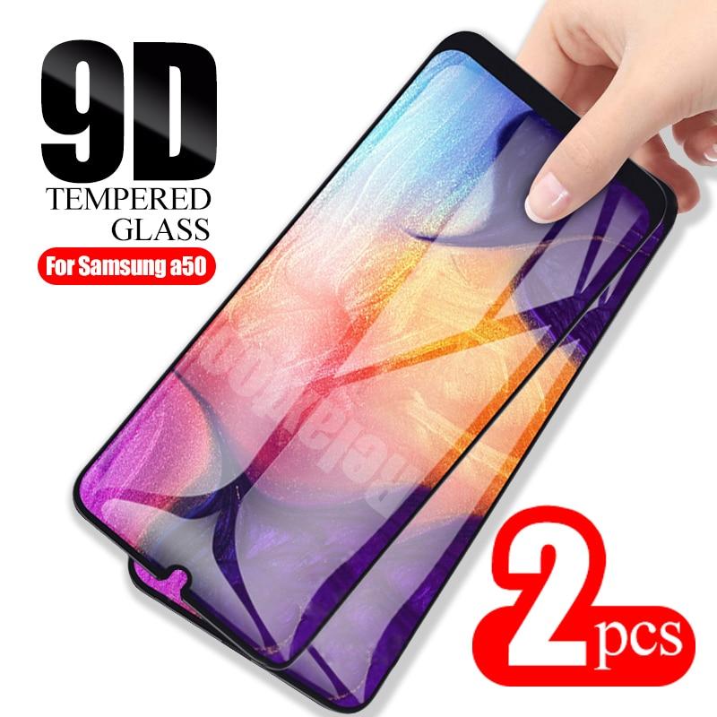 2шт 9D Защитное стекло для samsung Galaxy a50 протектор экрана на sumsung galax a 50 a505F sm-a505F Glas защита экрана