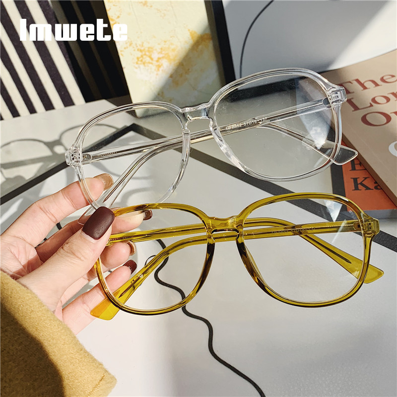 Imwete Classic Clear Glasses Frame Women Men Vintage Candy Color Optical Eye Glasses Frames Female Transparent Eyewear