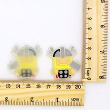 10pcs DIY Flatback Soft PVC Glow Accessory For Bags/T Shirt/Pencil/Pen/Pants Handmade Glue/Sew On Patches Hero Logo Series(China)