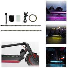 Tira de luces LED M365 para patinete eléctrico Xiaomi M365, lámpara de seguridad nocturna con correas de cinturón