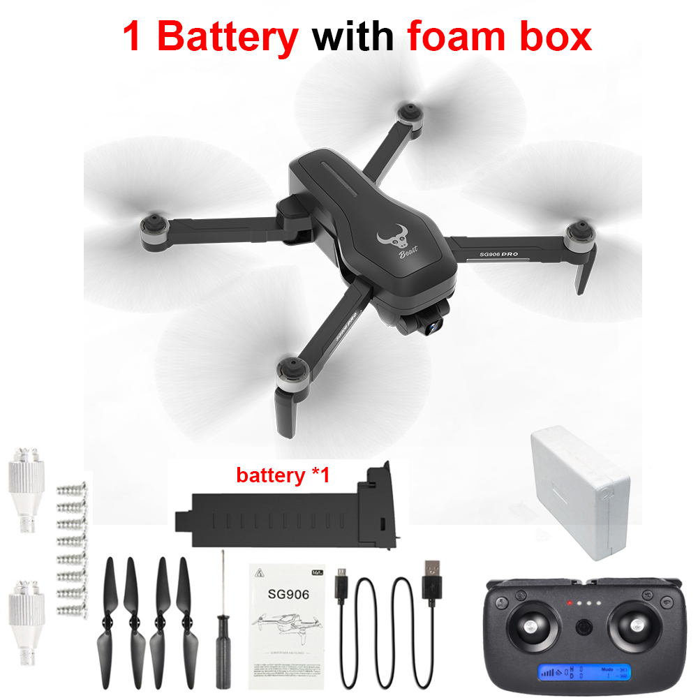 Professional SG906 Pro GPS Gimbal Drone with 2-axis Anti-shake Camera 4K 5G WiFi FPV Long Distance Brushless RC Quadcopter Drone