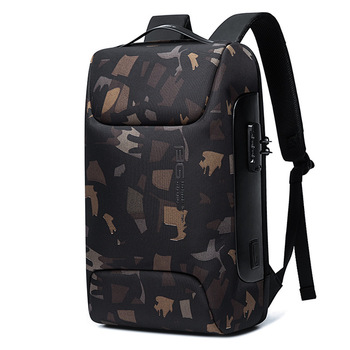 BANGE New Anti Thief Backpack Fits for 15.6 inch Laptop Backpack Multifunctional Backpack WaterProof for Business Shoulder Bags - Camouflage, 47 x 30 x 16cm