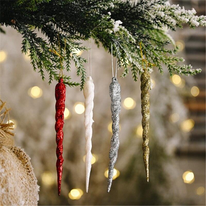 Украшения для рождественской елки, 5 шт., золотистые и Серебристые резьбовые фотообои, Новогоднее украшение, Рождество-C